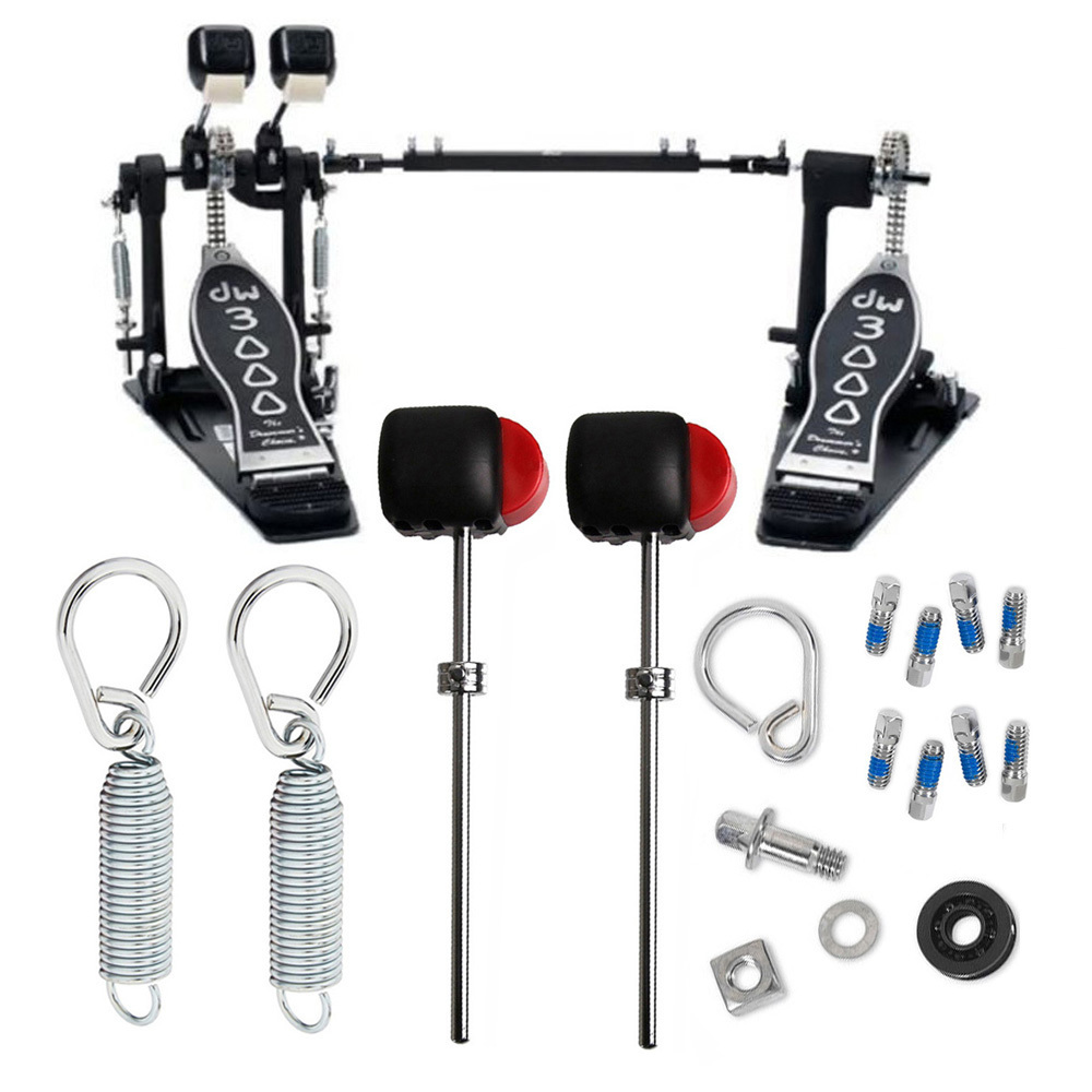 Drum Workshop DWCP3002L Double Bass Pedal (Lefty) Deluxe Bundle