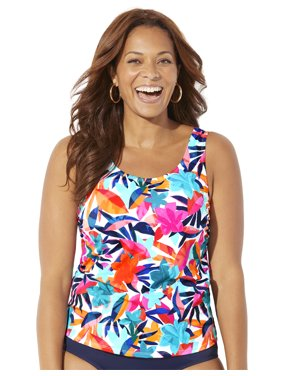 Swimsuits For All Women's Plus Size Classic Tankini Top