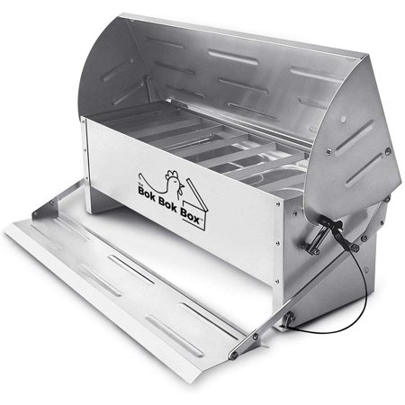 Image of Happy Henhouse Chicken Treadle Feeder, Soft-Close Lid, Waterer Treats Weather Proof Rodent Proof 20 LBS Capacity