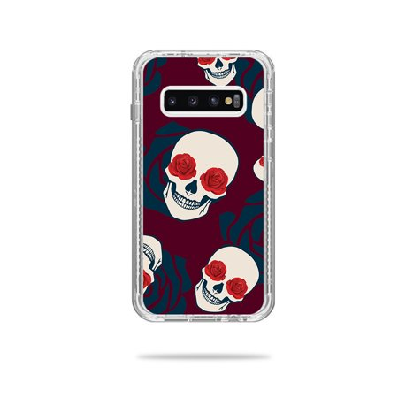 Skin For Lifeproof Next Case Samsung Galaxy S10+ - Skulls N Roses | MightySkins Protective, Durable, and Unique Vinyl Decal wrap cover | Easy To Apply, Remove, and Change Styles
