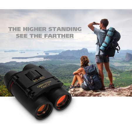 30x60 Folding Binoculars Telescope Day And Night Vision w/ Strip&Bag 126m/1000m Portable For Outdoor Camping Hiking