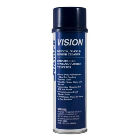 Namco 3054 Vision Glass Cleaner, 19 oz Aerosol Can, Case of 12 Case 19 Ounce Aerosol