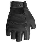 Highway 21 Women's Ranger Motorcycle Riding Gloves Perforated Leather Black Large