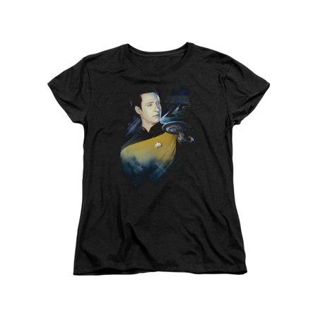 Star Trek Next Generation TV Series Data 25Th Women's T-Shirt - Star Trek Shirt Womens