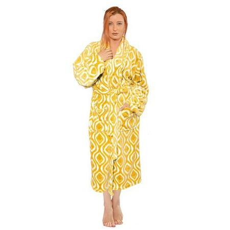 Home Soft Things Ivan Microfiber Flannel Fleece Bathrobe