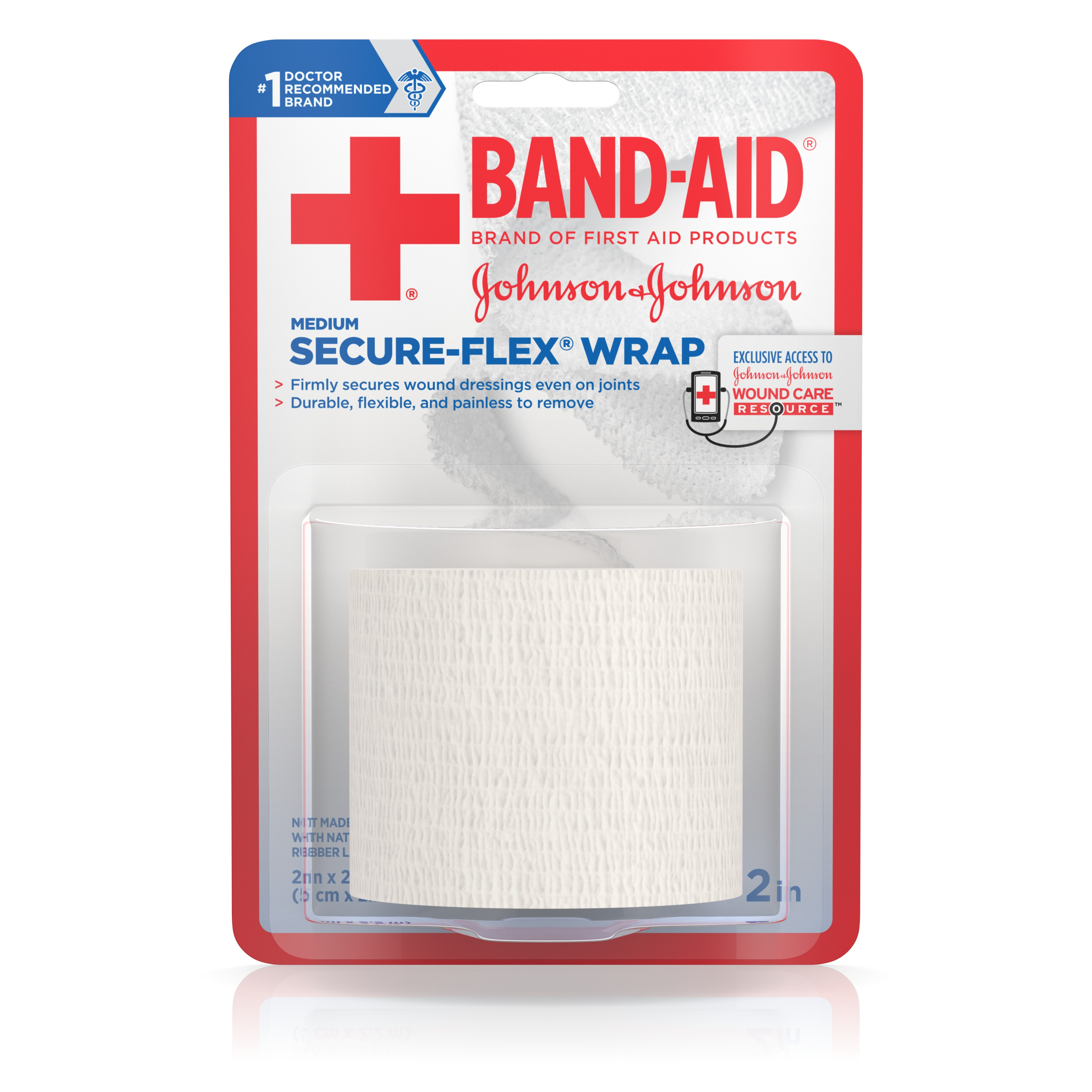 BAND-AID Brand of First Aid Products SECURE-FLEX Minor Wound Care Wrap, 2 Inches by 2.5 Yards by Johnson & Johnson