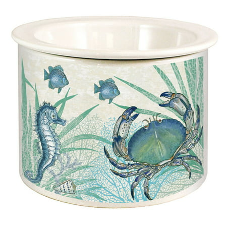 - Oceana Blue Crab Swimming in Coral Dip Chiller Ceramic