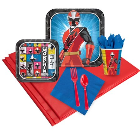 Power Rangers Ninja Steel 16 Guest Party Pack - Power Ranger Party Supplies