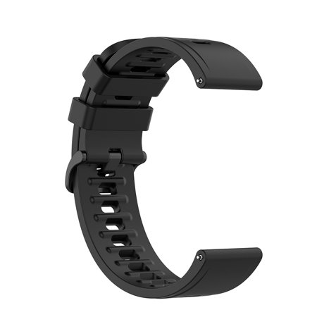 UEB & Device 22mm Silicone Band for Xiaomi Mi Watch Color Replacement Bracelet (Black)