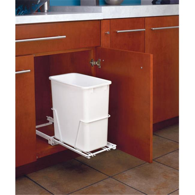 Rev A Shelf Rsrv.814Pb 20 Qt Pull-Out Euro Slides Rotatable - White
