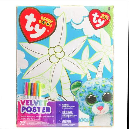 Beanie Boo Color In Velvet 16X20 Poster Gold Foil - Velvet Art Posters To Color