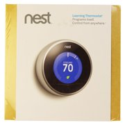 Nest Learning 2nd Generation Heating Cooling Smart Thermostat, Stainless Steel