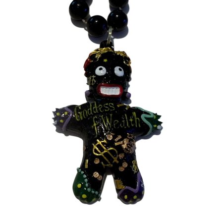 Voodoo Goddess of Wealth Black New Orleans Necklace Beads Bead