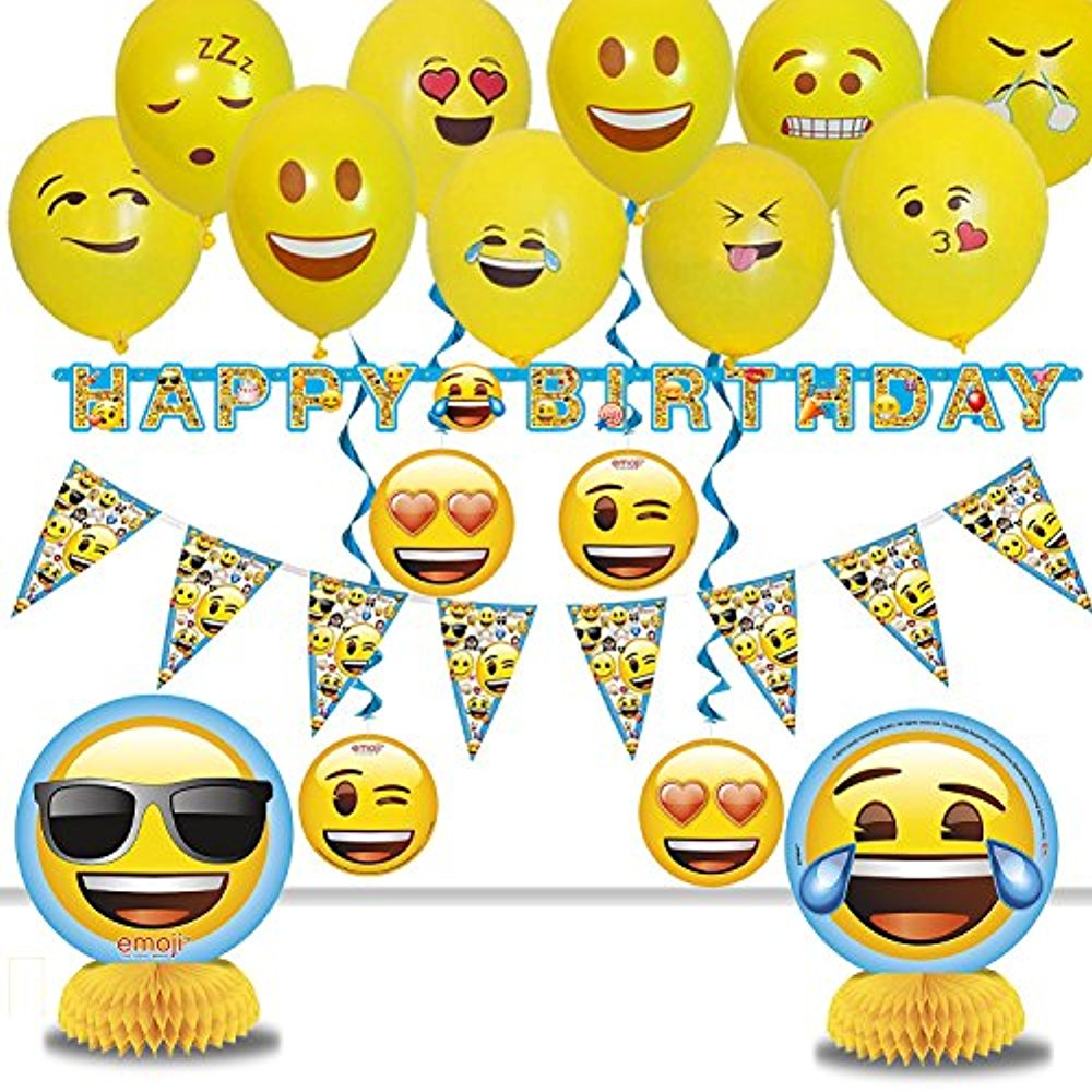 Emoji Birthday Party Decoration Pack