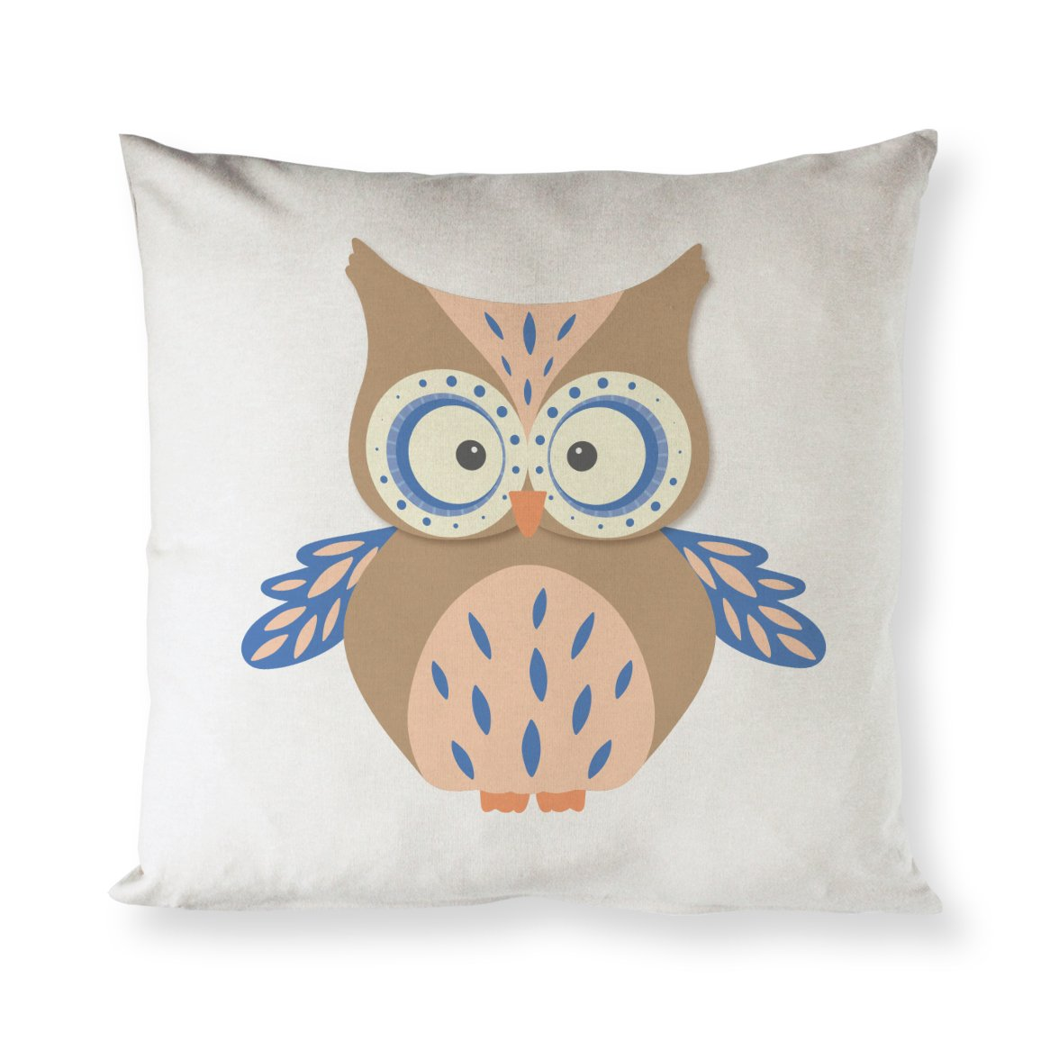 The Cotton Canvas Co Owl Home Decor Pillow Cover Pillowcase Cushion Cover And Decorative Throw Pillow Cover For Nursery And Kid S Room Natural Color Not White Walmart Com Walmart Com