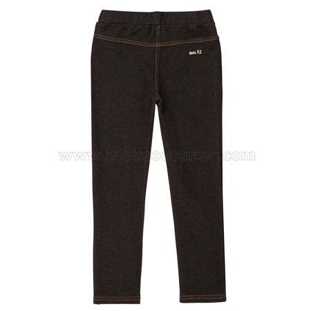 Deux par Deux Girls' Jeggings Black, Sizes 2-12 - 2 - image 1 of 2