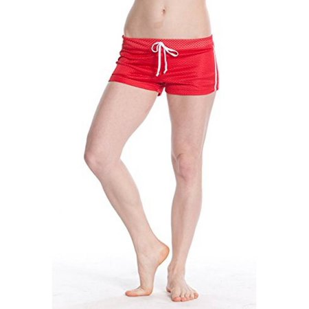 Lifeguard Printed Mesh Short - Ideal For Swimming ,Gym, Workout Shorts for Women (Virginia - Ladies Wicking Mesh Short