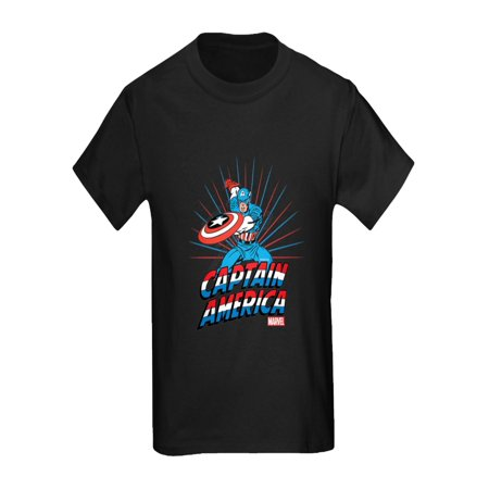CafePress - Captain America - Kids Dark T-Shirt - Captain America Girls