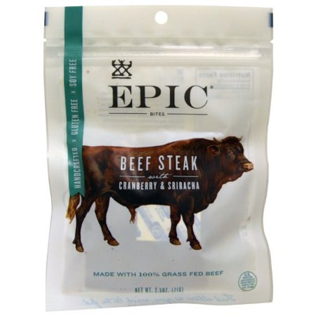 Epic Bar, Bites, Beef Steak with Cranberry & Sriracha, 2.5 oz (71 - Epic Bar Chicago Halloween