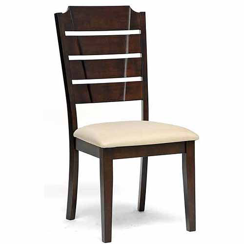 Wholesale Interiors Victoria Wood Modern Dining Chair, Set of 2, Beige
