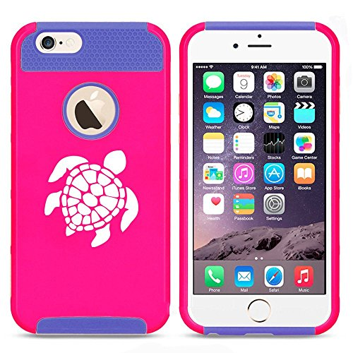 Apple iPhone 5c Shockproof Impact Hard Case Cover Sea Turtle (Hot Pink-Blue),MIP