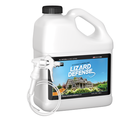Lizard Defense One Gallon (128 oz) Natural Repellent and Deterrent for All Lizards and (Sticky Lizards)