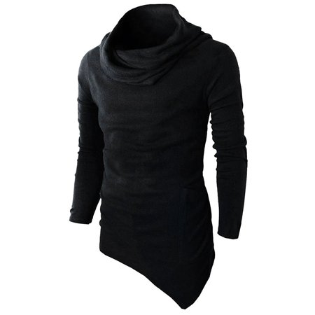 e912cde6f Men's Slim Fit Tuetleneck Long Sleeve Muscle Tee T-shirt Casual Tops ...