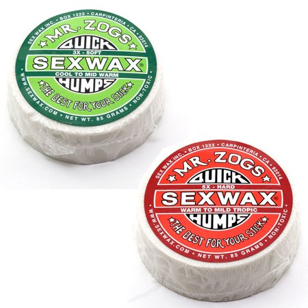 Sex Wax Quick Humps Surf Wax Pack Of 2  3X And 6X Mr  Zogs