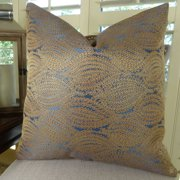 Thomas Collection Navy Gold High End Couch Pillow - 11100