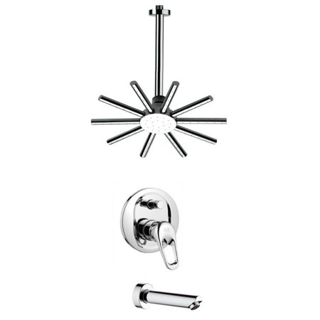 Nameeks TSF2272 Chrome Remer Shower Tub And Shower Trim Package