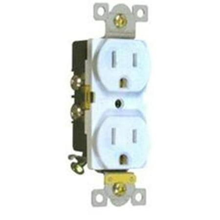 Commercial Duplex Receptacle 15A 125V White