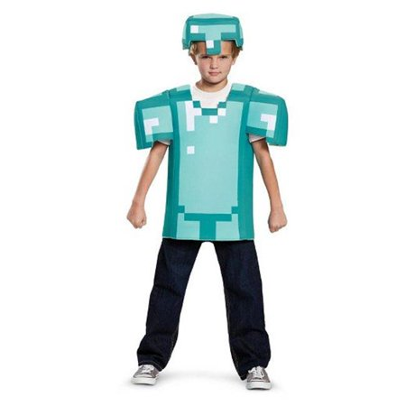Minecraft Armor Classic Costume for 4-6 Years - Minecraft Herobrine Costumes