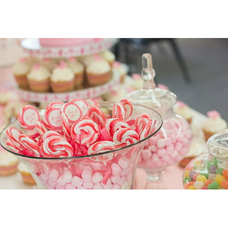 Canvas Print Candy Sweet Party Food Birthday Table Dessert Stretched Canvas 10 x - Party Candy Table