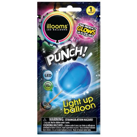 Halloween Punch Ball Balloons (illooms Blue LED Light Up Punch Balloon 1)