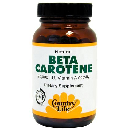 Country Life Vitamins   Beta Carotene 50 Softgel