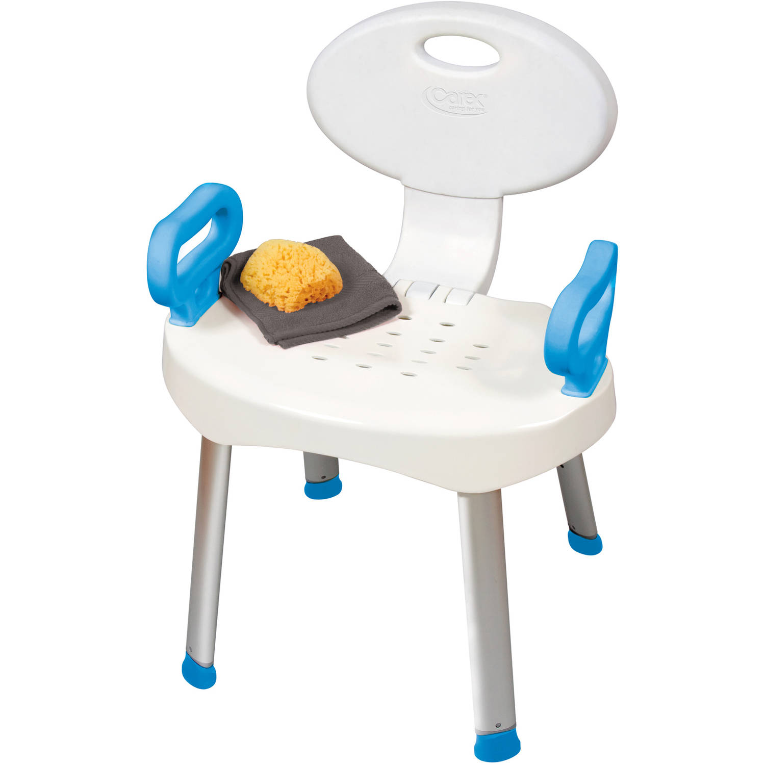 Carex E Z Bath and Shower Chair with Arm Handles Walmart