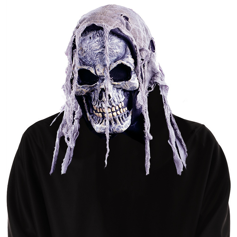 Gauze Skull Mask Adult Halloween Accessory