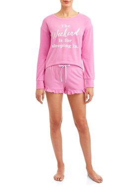b74a8a3d1288 Product Image JV Apparel Women s and Women s Plus 2-Piece Popover and Short  Sleep Set