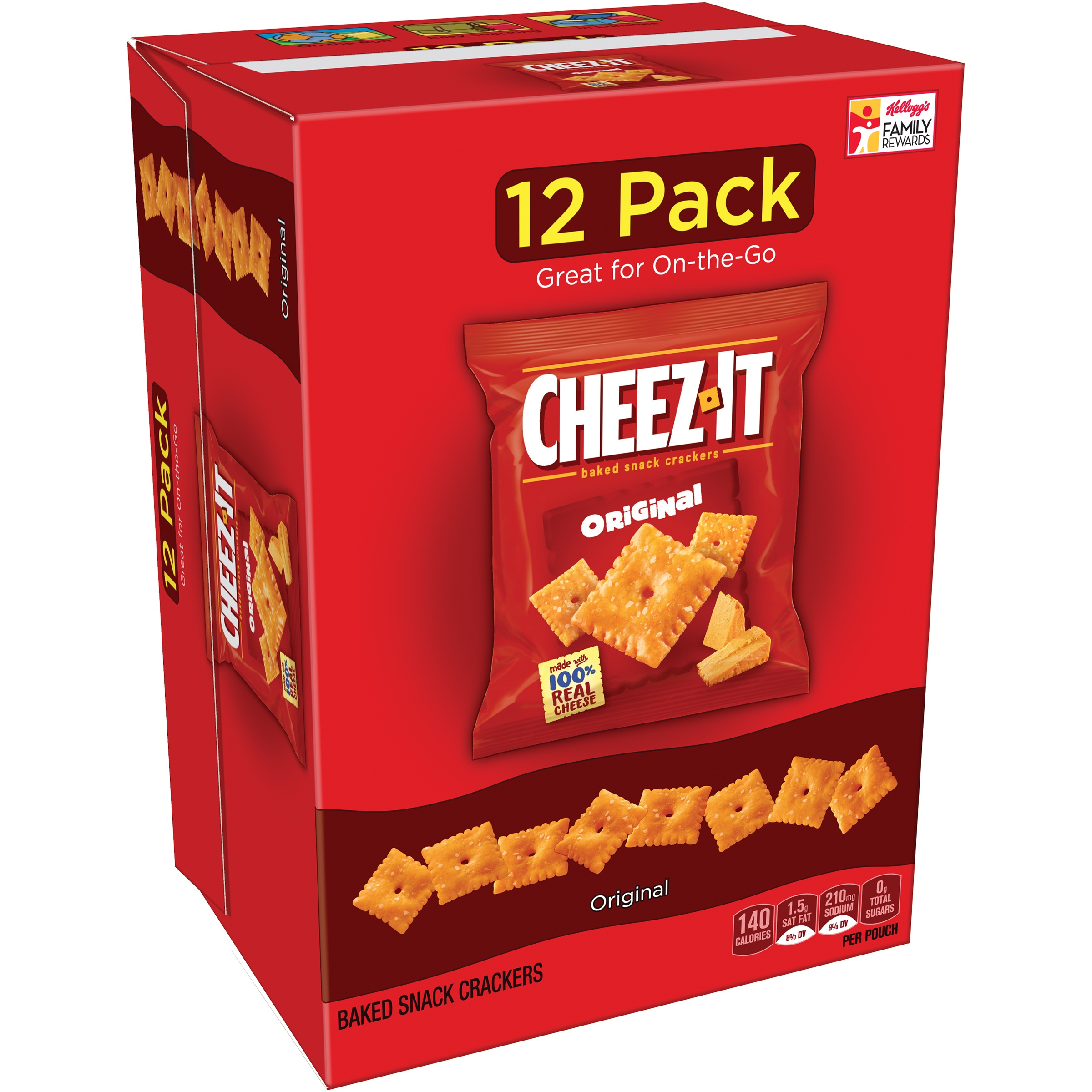 Cheez-It Original Baked Snack Crackers 12.1 Oz, 12 Ct by Sunshine Biscuits, LLC.