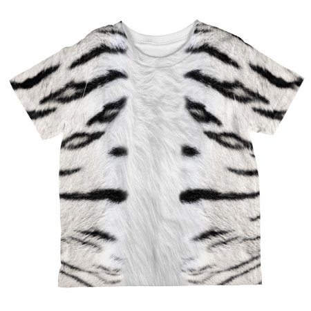 Halloween White Tiger Costume All Over Toddler T Shirt (White Tiger Toddler Costume)
