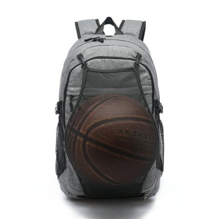 College High School Backpack w/ Basketball Mesh External USB Charging Port and Headphone Port 17