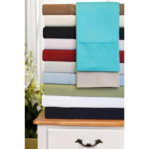 300 Thread Count Egyptian Cotton Sheet Set Pillowcase King (set of 2) - White