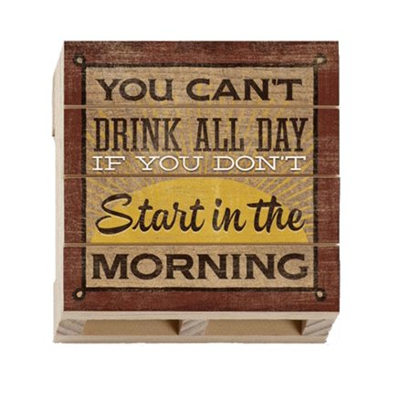 Highland Woodcrafters Morning Start Wood Pallet Coaster