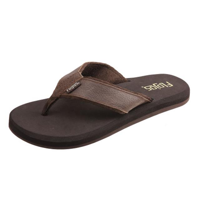 Flojos Mens Cole II Sandal, Brown Size 11 by