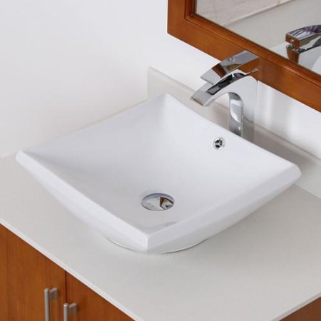 Elite grade a ceramic square design vessel bathroom sink for Are vessel sinks out of style