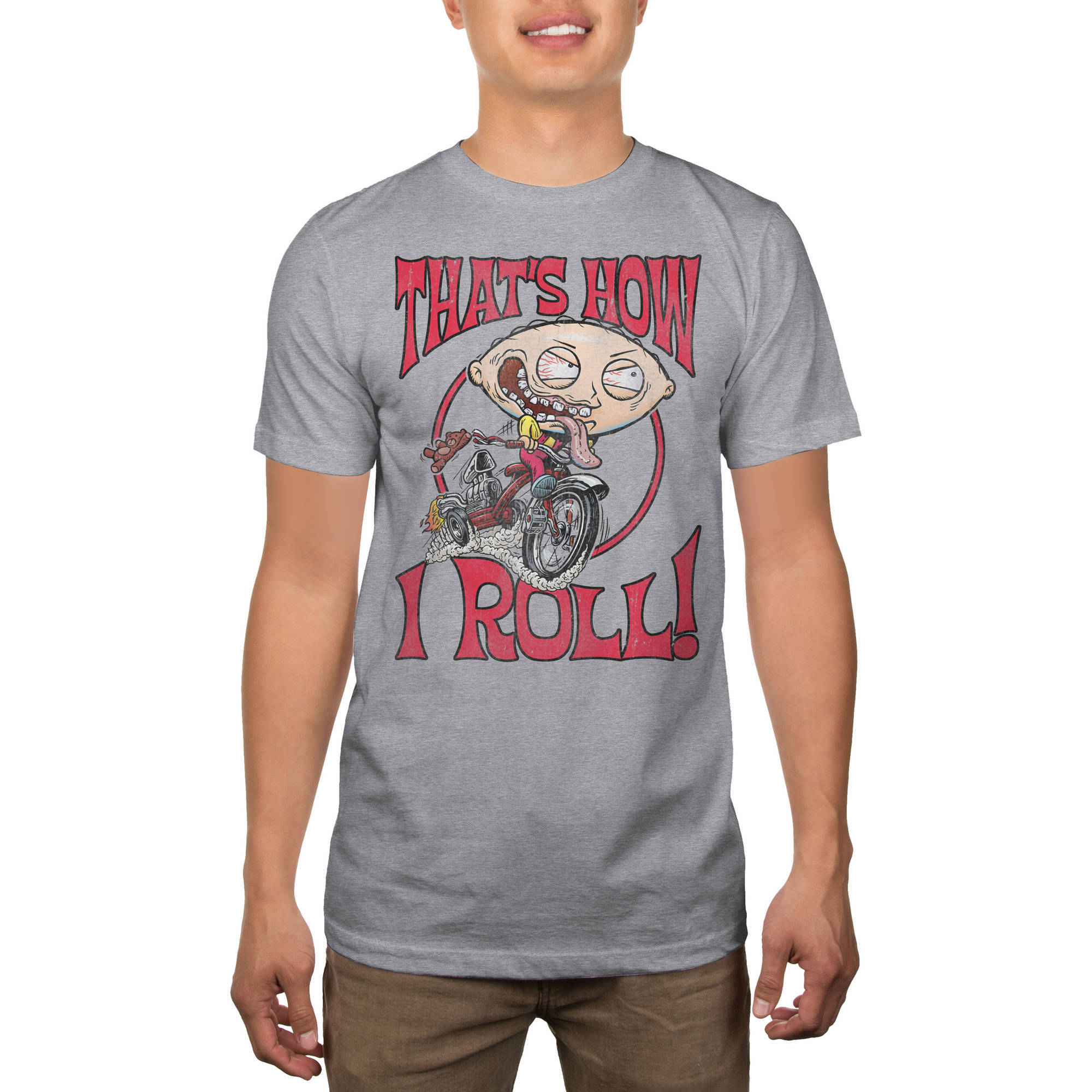 Family Guy Men's Stewie How I Roll Graphic Tee
