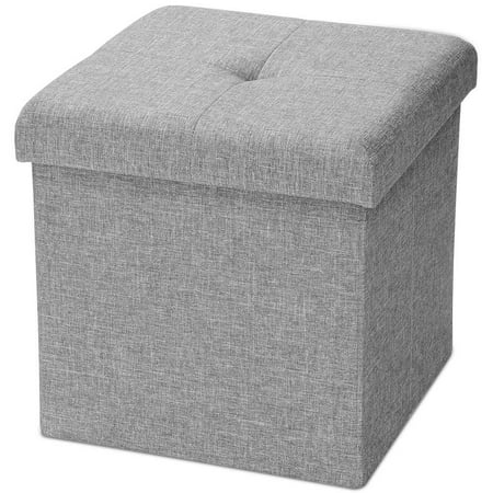 Fabulous Sortwise Folding Storage Ottoman Bench Storage Chest Footrest Padded Seat Poly Linen Storage Organizer Grey Walmart Canada Caraccident5 Cool Chair Designs And Ideas Caraccident5Info