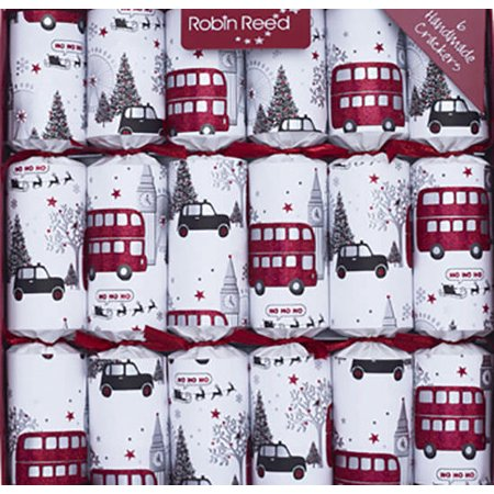 Robin Reed English Holiday Christmas Crackers, Pack of 6 - London Sights ()