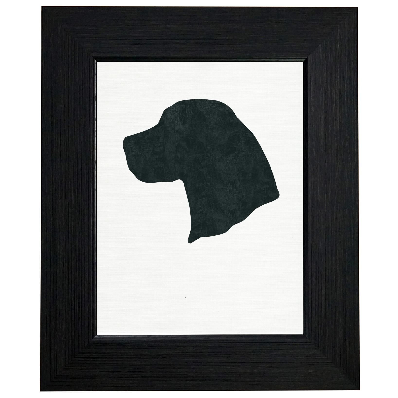 Beagle Dog Head Framed Print Poster Wall or Desk Mount Options
