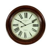 Bassett Old World Brinkley Wall Clock in Antique Bronze